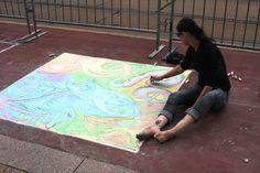 Creating Art Chalk Art, Art Festival, Buffalo, Artwork, Work Of Art, Auguste Rodin Artwork, Artworks, Water Buffalo, Illustrators
