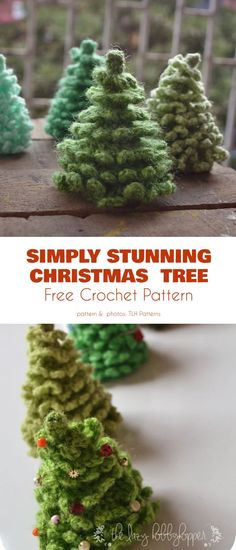 Fluffy Christmas Tree Free Crochet Patterns Simply Stunning Christmas Tree These lovely trees will function well as decorations on the tree proper, or on a wreath, or as part of a Christmas diorama, on your table top or a window. Crochet Christmas Wreath, Crochet Christmas Decorations, Christmas Tree Pattern, Crochet Decoration, Christmas Crochet Patterns, Holiday Crochet, Christmas Knitting, Crochet Patterns Amigurumi, Christmas Crafts