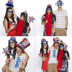 Such a cute idea... I think my kids would eat this up. For the best 4th of July party photos, set up a photo booth with favors for guests to interact with - like Uncle Sam top hats, goofy sunglasses and pinwheels.
