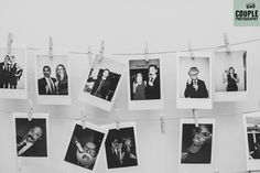Cool polaroid photos of the wedding guests. Weddings at Tulfarris Hotel & Golf Resort, photographed by Couple Photography.