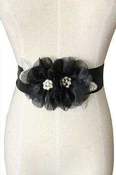 Lemandy Handmade Organza Flower Sashes for Wedding Dresses (black) Lemandy http://www.amazon.co.uk/dp/B01517WKCM/ref=cm_sw_r_pi_dp_gZjiwb1RGHHE1