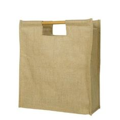jute tote with wooden handles - pack of 50 - via Amazon