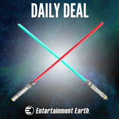 DEAL OF THE DAY  Cyber Monday Daily Deal - 25% Off Star Wars Lightsabers Wednesday, December 03, 2014  IN STOCK NOW! Use the Force to get up to 25% off these awesome Star Wars lightsaber prop replicas!  These lightsaber prop replicas feature durable die-cast metal parts that look and feel like the real thing!  But hurry - this deal ends at midnight. Order now and save! Limit 5 per person.  http://tomatovisiontv.wix.com/tomatovision2