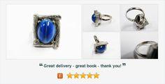 #Vintage #WhitingandDavis Blue Stone Ring  #gotvintage #vintagejewelry #vintagerings