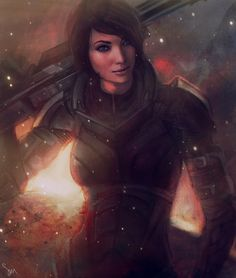 Shepard Art this is so beautiful <3 im going to play this game over and over and over and...
