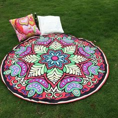 Drop Shipping Hippie Round Mandala Tapestry Indian Wall Hanging Blanket Boho Beach Throw Towel Yoga Mat Home Room Decoration Indian Blankets, Mandala Tapestry, Mandala Blanket, Tapestry Beach, Bohemian Tapestry, Tapestry Wall, Indian Mandala, Boho Summer Dresses, Bikini Cover Up