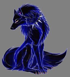 Drawn wolf blue wolf in blue wolf drawing collection - ClipartXtras Galaxy Wolf, Demon Wolf, Shadow Wolf, Wolf Artwork, Blue Anime, Magical Creatures, Fantasy Creatures, Fantasy Monster, Kawaii