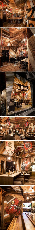 Izakaya Kinoya restaurant by Jean de Lessard, Montreal – Canada.