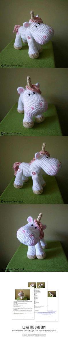 Luna The Unicorn Amigurumi Pattern