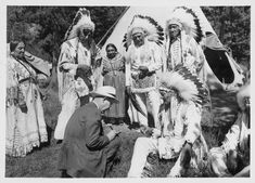 Chief Bull, George Bullchild, Wallace Nightgun, Mrs. Sanderville, Dick Sanderville, Mr. Undermouse, Mrs. Undermouse, R.H. Willicomb, Indian Peoples Digital Image Database Object Description