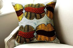 Julius holland wax | ... Pillow cushion cover Genuine wax print batik - 18 x 18 inches (46cms