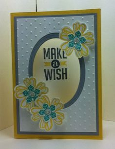 Oval cut out card, Flower Shop, Petite Petals, Perfect Pennants by Dianne Slevin