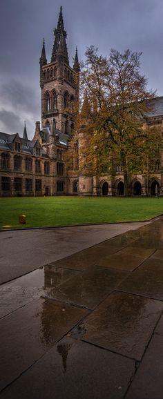 Glasgow University's Gilbert Scott building, Scotland, UK