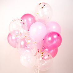 Hey, I found this really awesome Etsy listing at https://www.etsy.com/au/listing/479833031/pink-confetti-balloons-set-of-1624-girls