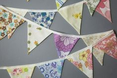 Items similar to Make your own 'Vintage Bunting' Kit. Banner, Garland, Flags on Etsy