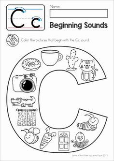 Beginning Sounds Color It! Fun and engaging worksheets for children in preschool and kindergarten.