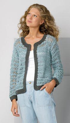 Breien en Haken (afwerking). Dit vest is gemaakt met Katia Tahiti. Een luchtig en zomers lintgaren, gemaakt van 100% gekamd en gemerceriseerd Katoen.  Model en patroon staan beschreven in het patronenboek Katia Casual No. 88 (Blz. 5) Katia CASUAL 88 pag 5bkopie.jpg