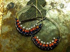 WireWrapped Chandelier Hoop Earrings by ciaraeverett on Etsy, $30.00