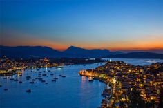 Poros at dusk...Still wondering ? ‪#‎YachtcharterGriechenland‬ ‪#‎YachtcharterSaronischerGolf‬