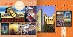 Here is my the start of our month of June 2012 for my Shutterfly Project Life book.