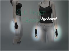 The Sims Resource: Cut Finger Gloves by BeccAi Sims 4 Accessories, Cat Sim, Sims 4 Hair Male, Sims Videos, The Sims 4 Packs, Sims4 Clothes, Sims 4 Characters, Sims 4 Mm, Look Girl