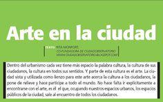Revista ciudad sostenible: +S Tendencias _ arte en la ciudad