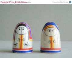SALE 20 OFF Arabia Finland Lappalainen Eskimo Salt by MonkiVintage, $88.00