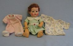 "dydee baby dolls | 12"" Vintage Doll EFFANBEE 1940s DY-DEE BABY Karakul Wig, Hard Plastic ..."