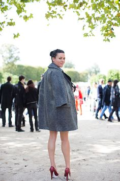 Garance Doré in our Lauren mock crock pump with biodegradable sole from our Winter '12 collection