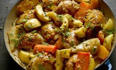 Yotam Ottolenghi's creamy chicken with apples, pears and root vegetables