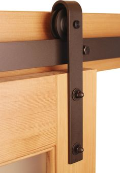 "Classic Barn Door Hardware Kit, Black, 5ft Track (for 30"" or Smaller Door) traditional-barn-door-hardware"