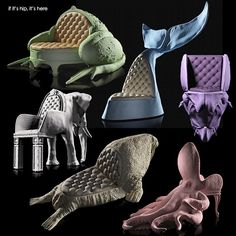 Animal Chairs by Maximo Riera