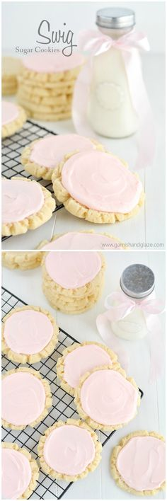 Swig Sugar Cookies will become you new favorite, go-to, easy sugar cookie recipe.  Perfect for Valentine's Day, a bridal shower, or baby shower!