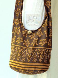 SMALL SIZE Hobo Boho Crossbody Bag Hippie Vegan Bag by TipBoutique