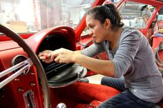 Fixing cars is a girl's job. See more photos of Edith as she restores classic Corvettes.