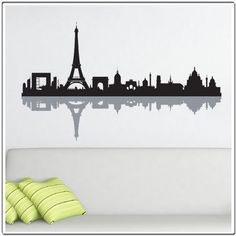 Paris Skyline Silhouette - Wall Decal