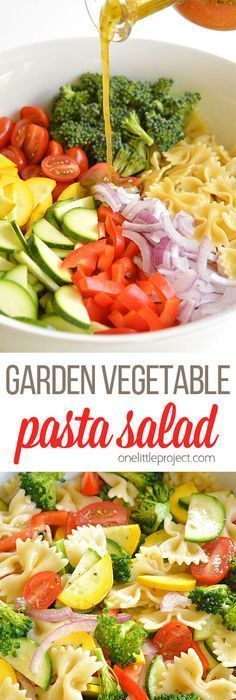 Gardening Vegetable This garden vegetable pasta salad is SO GOOD. It's loaded with fresh, summer… - This garden vegetable pasta salad is SO GOOD. It's loaded with fresh, summer ingredients in almost all the colours of the rainbow so you know it's healthy. Bacon Ranch Pasta Salad, Best Pasta Salad, Pasta Salad Recipes, Recipe Pasta, Garden Pasta Salad Recipe, Macaroni Pasta Salad, Homemade Pasta Salad, Fresh Salad Recipes, Healthy Pasta Salad