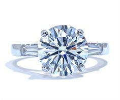 Tapered baguette diamond engagement ring by Ascot Diamonds #ascotdiamonds