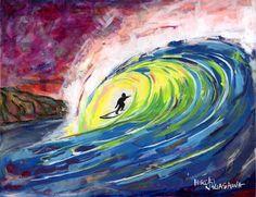 """Surf Art """"Sunset Surf Session"""""""