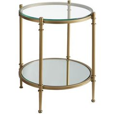 Glass Clara End Table - Gold - Home Decor Furniture Ideas