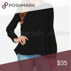 """Zanzea black chiffon blouse back pleats. 22W Classy Zanzea black chiffon blouse with back pleating. 22W. Bust is approximately. 50"""" and length is 32"""".  Dressy or casual. Tops Blouses"""