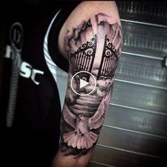 50 Heaven Tattoos For Men - Higher Place Design Ideas #tattooıdeas #tattoo #tattootrend Dope Tattoos, Sky Tattoos, Cool Tattoos For Guys, Trendy Tattoos, Best Tattoos For Men, Cloud Tattoos, Tattoos For Women Half Sleeve, Full Sleeve Tattoos, Tattoo Sleeve Designs