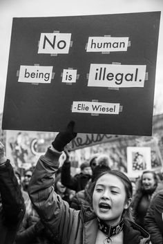"A woman participates in the No Ban No Wall Protest outside the White House on January Part of A Year of Protests"" Photo Essay by Kaitlin K Walsh. Protest Art, Protest Signs, Power To The People, Equal Rights, Photo Essay, Change The World, Wall Collage, Humor, Climate Change"