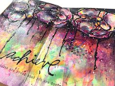 ART JOURNALING WITH FLORAL STAMPS – Mixed Media Art Tutorials