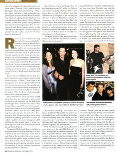 Keanu Reeves - Biography September 2000