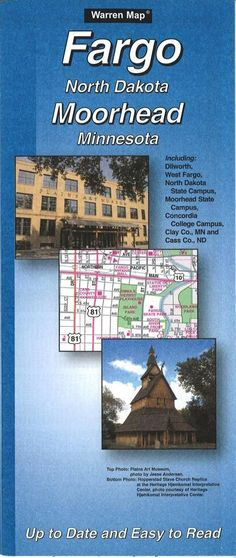Fargo, North Dakota and Moorhead, Minnesota by The Seeger Map Company Inc.