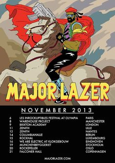 Major Lazer – Free The Universe – Fall Tour 2013