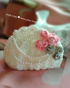 Pearls and roses clutch ♥♥