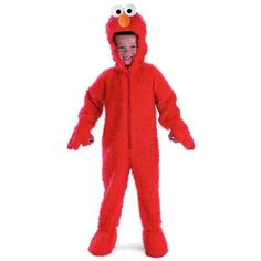 Sesame Street - Elmo Deluxe Plush Costume Size 2T Toddler ** You can find more details by visiting the image link.