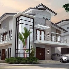 the perfect house 2 Storey House Design, Bungalow House Design, House Front Design, Modern House Design, House Plans Mansion, Family House Plans, Modern Architecture House, Architecture Design, Beautiful House Plans